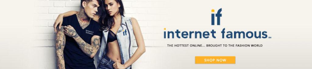 internet famous store banner